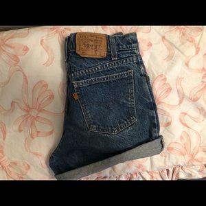 High-Waisted Levi Mom Shorts